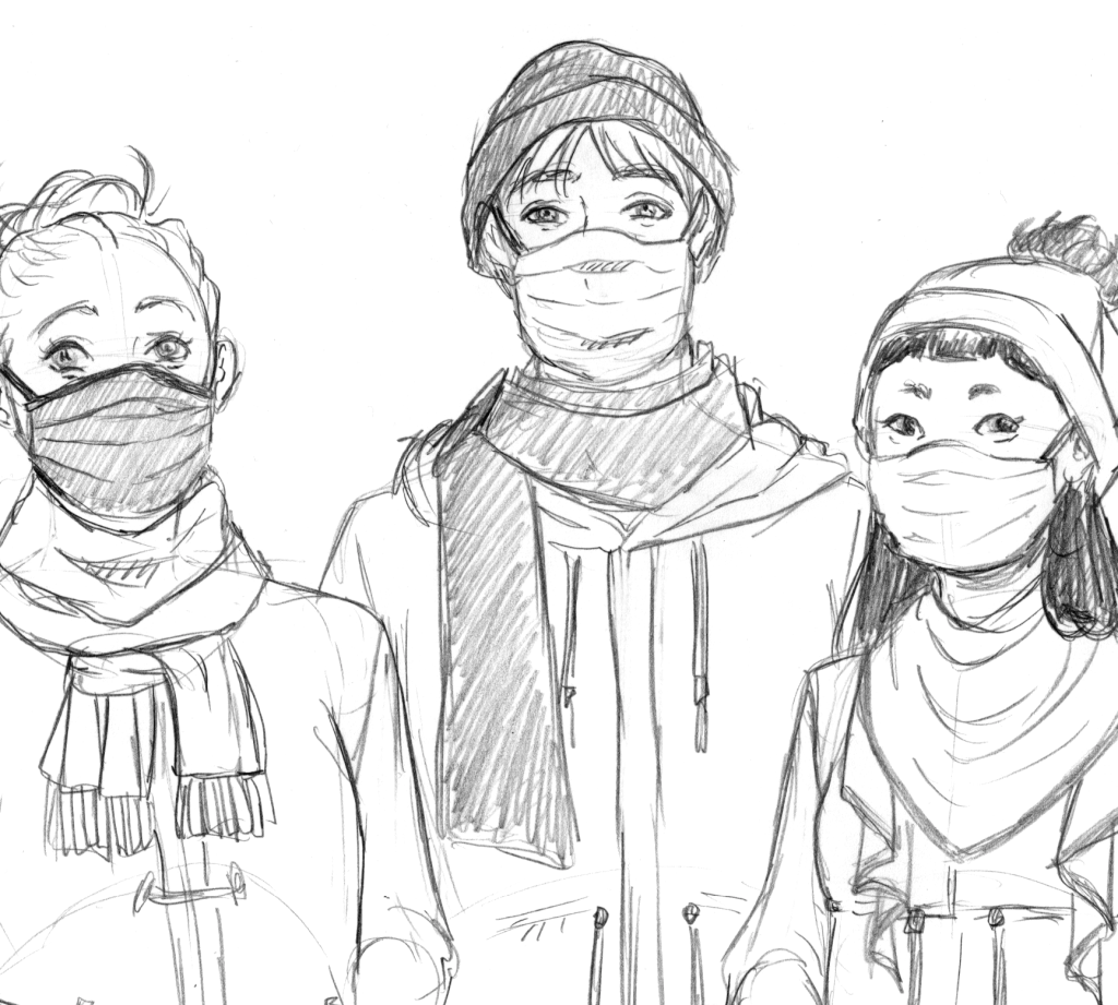 Merry Christmas and Happy New Year with Masks Thumbnail 2